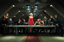 Battlestar Galactica Starship Galaxy Movie Poster Canvas Printing Wall Art