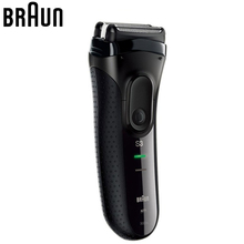 Braun Series 3 Electric Shavers 3020S S3 Shaver Razor Blades Beard Shaving Machine For Men Face Care Long Hair Trimmer 100-240V