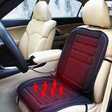 Winter Car Seat Pad  Cushion Electric Heated Cushion Car Heated Seat Covers Universal  Conjoined Supplies Black Color