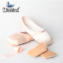 Dance Shoes For Women Child and Adult Ballet Pointe Shoes Children Ladies Professional Ballet Shoes With Ribbons Shoes Woman(China)