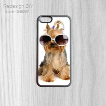 Lovely Abroad dog with Glasses Print Snap On Cover Case Mobile Skin Shell For iPhone 6 6s And 4 4s 5 5s 5c 6 Plus phone cases
