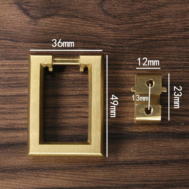 Stainless Steel 12mm Square Cabinet Cupboard Door Drawer Handles Half Round