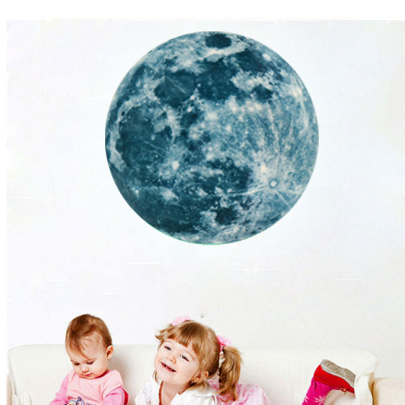 HTB1v1izSpXXXXcaXXXXq6xXFXXXV - Super Luminous moon wallpaper luminous wall stickers luminous waterproof stickers children bedroom bedroom decoration mural