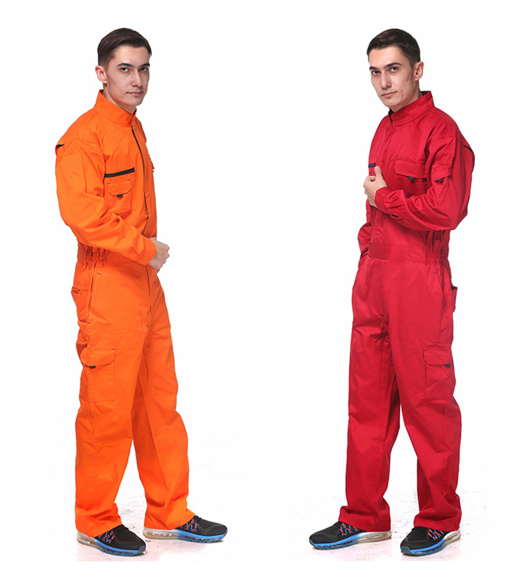 Work Overalls Long Sleeve Working Clothes Dustproof Auto repair Wear-resistant Coveralls Unisex Workwear Solid Color Uniforms (2)