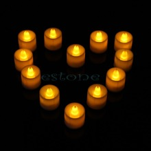Flickering Christmas Flicker Flameless LED Tealight Tea Candles Light Battery Operated Wedding Birthday Party Decoration