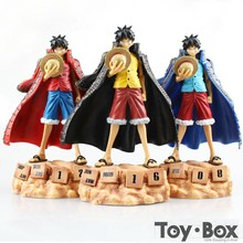 Anime One Piece Zero Monkey D Luffy Eternal Calendar 20cm Cartoon Toy PVC Action Figure Model Gift