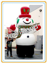 free shipping stock giant inflatable snowman ,outdoor advertising inflatable christmas decoration