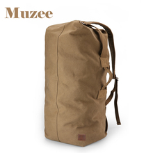 Muzee Huge Travel Bag Large Capacity Men backpack Canvas Weekend Bags Multifunctional Travel Bags(China)