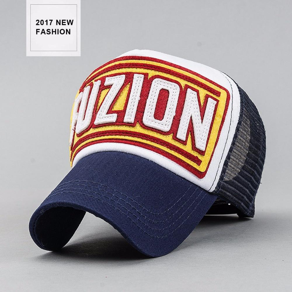 2017 New fashion europe truckers caps for men lFUZION patch logo mesh hats women trucker hat bone masculino baseball sun cap<br><br>Aliexpress