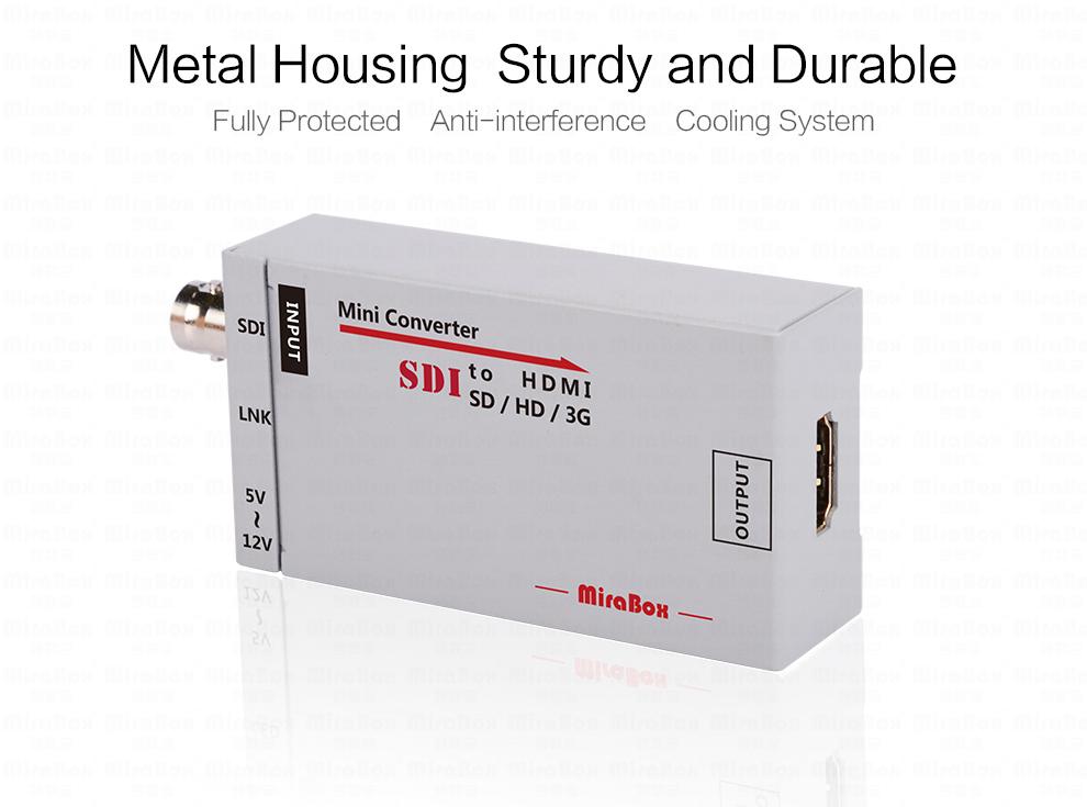 1080P Mini 3G SDI To HDMI Converter With Audio For HD Camera SDI To HDMI Video Converter Mini Box Support SDI3GHD SDI Signal (5)