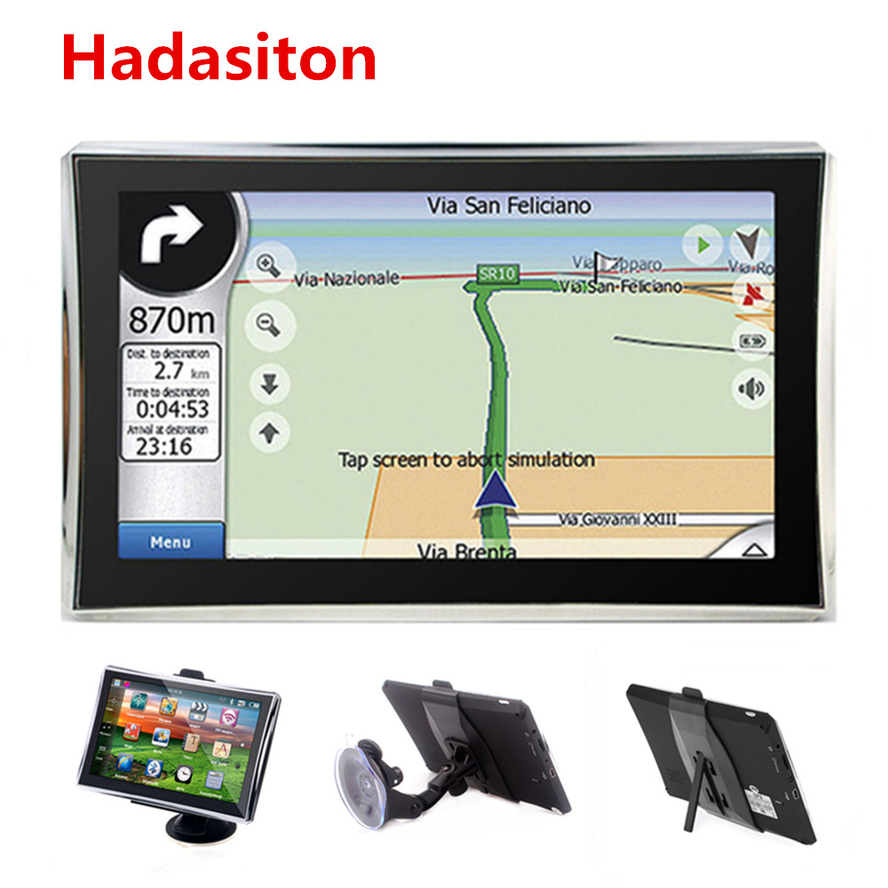 Car GPS Navigation Sat-Nav 7inch Maps Reversing 8GB with Free New Wireless Rearview-Camera title=