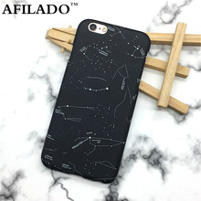 Fashion Stars Sky Constellation Hard Matte Plastic Ultra Thin Cover for iPhone 6 6s 5 5s SE Phone Cases Colorful Map Shell Capa