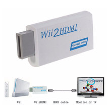 White For Wii to HDMI Wii2HDMI Adapter Converter Full HD 1080P Output Upscaling 3.5mm Audio Video Output Hot Sale(China)