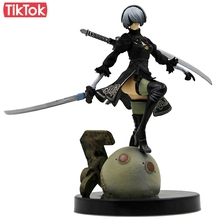 New Game NieR Automata YoRHa No. 2 Type B 2B Cartoon Toy Action Figure Model Doll Gift(China)