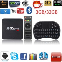 Docooler M9S-PRO Smart Android 5.1 TV Box KODI16.0 UHD 4K 3G / 32G Mini PC WiFi 2.4G Wireless QWERTY Keyboard Mouse Touchpad