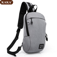 KAKA Hot 2017 New Casual Men's Chest Bag Oxford Sling Bag Multifunctional Small Male Crossbody Bags Fashion Shoulder Bags D025(China)