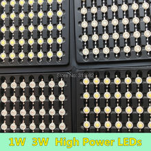 50 PCS 1W 3W LED Diode Chip High Power LEDs Lamp Source white warm red blue green yellow orange purple ice blue Copper Holder