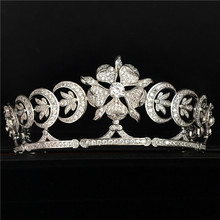 2016 Winter Trendy Full Top Shining CZ tiaras and crowns bridal hair accessories For Weddings