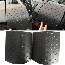 2PCS Car Sticker Body Cover black for Jeep Wrangler JK 2007-2015 ABS Body Armor Side Cowl Cover Car Accessories(China)
