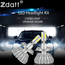 Zdatt H4 Led H7 H11 H8 9005 9006 Bulb 12V 24V Auto Car Light Headlight 60W 6600Lm 6000K Automobiles Fog Lamp DRL Leds
