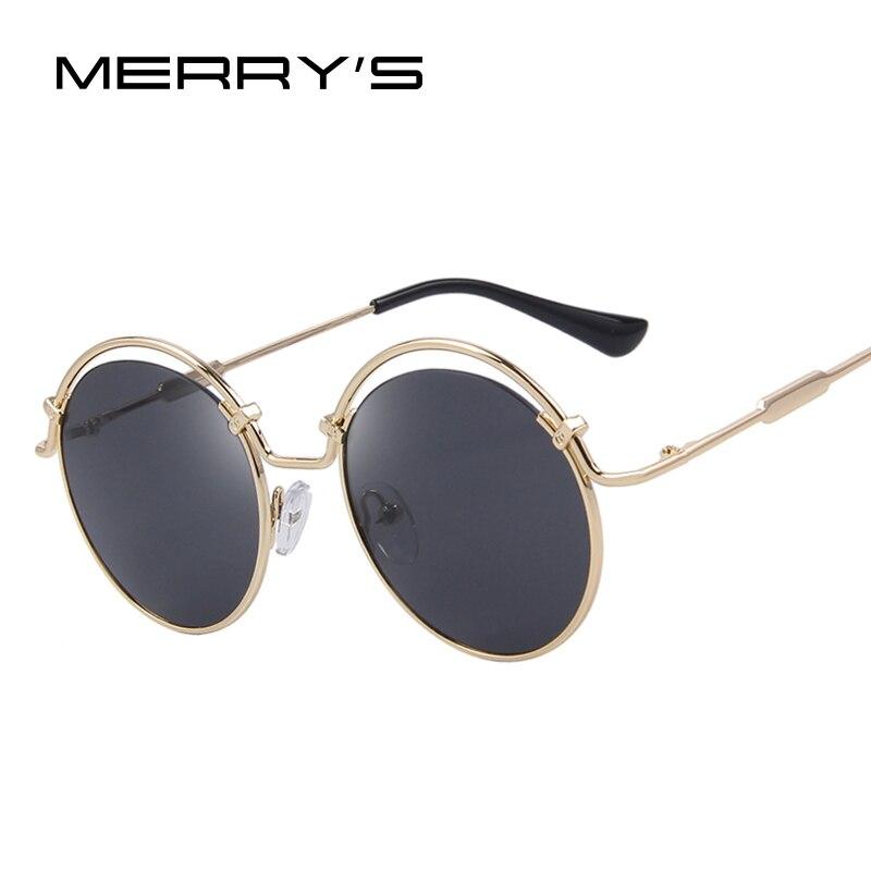 MERRYS Fashion Women Round Sunglasses Metal Frame Square Sun glasses S8007<br><br>Aliexpress