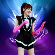 Black and white GIRLS GENERATION jazz dance ds fashion costume