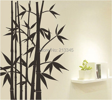 [Fundecor] fashion Chinese style bamboo decorative wall stickers living room TV home art decals mural 4117
