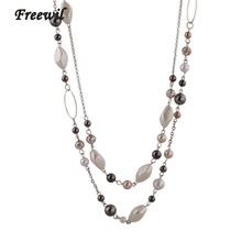Steam Punk Woman Accessories Necklaces & Pendants Gold Color Chain Natural Stone Beads Necklace Gift For Mothers Day SNE140254