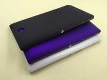 New Original Black White Purple Housing Battery Door Back Cover Case +Side Buttons For Sony Xperia C C2304 C2305 S39h S39c