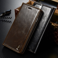 Luxury Original Brand Phone Case sFor Fundas iphone 7 case For Coque Apple iphone 7 plus High Quality Magnetic Flip Wallet Cover(China)