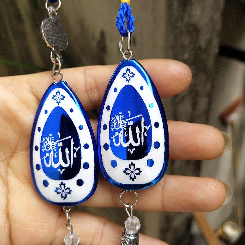 Luck Turkish Blue Hamsa Hand Glass Evil Eye DIY  Amulet Wall Hanging Home Decoration