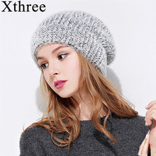 Xthree winter knit cap beanie hat for women Double-deck warm Hat Female spring Women Gravity Falls Cap(China)