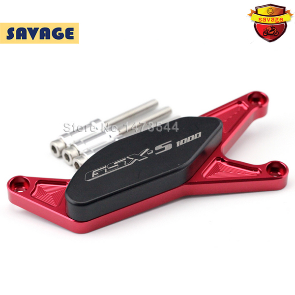 For SUZUKI GSXS GSX-S 1000/1000F 2015-2016 Red Motorcycle Engine Stator Case Guard Cover Protector Slider with logo GSX-S1000<br>