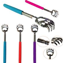 Portable Old Man Unisex Bear Claw Back Scratcher Metal Extendable Telescopic Rubber Tickle Massagers Hot Comfortable