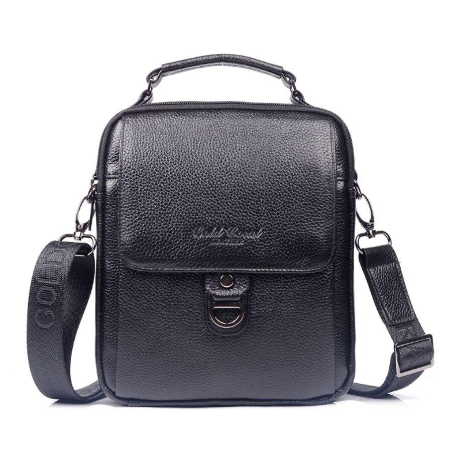 High Quality Genuine Leather Cowhide HandBag Single Shoulder Messenger Crossbody Bags Real Cowhide Purse Male Tote Hand Bag<br>