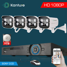 Full HD 4Ch 1080P Surveillance Camera kit 4*2MP AHD CVI SONY 323 camera 4*Array Waterproof Security Camera 4ch cctv DVR system(China)