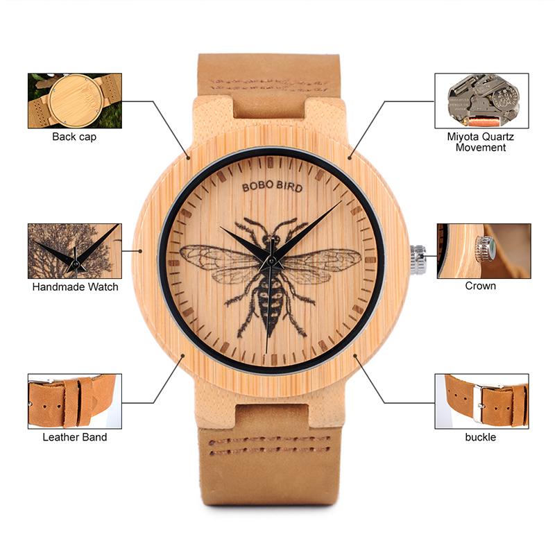 wooden men wrist watches for men bobo bird (4)