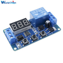 DC 12V LED Digital display Home Automation Delay Relay Trigger Time Circuit Timer Control Cycle Adjustable Switch Relay Module(China)