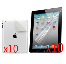 10sets/lot Clear LCD Full Body Front And Back Screen Protector Film Protective Guards For Apple iPad 2 3 4 iPad2 iPad3 New iPad4(China)