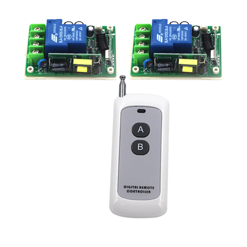 AC 85V- 250V 30A 3000W RF Wireless Remote Control Switch 1 Transmitter + 2 Receiver 4121<br>