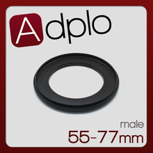 Male 55mm-77mm 55-77 55 mm to 77 mm Macro Reverse Ring Adapter Aluminum(China)