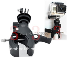 Motorcycle Bike Bicycle Handlebar Handle Bar Camera GoPro Mount+Tripod+Adapter For Gopro Hero 5 4 3 2 Sport Camera FreeShipping