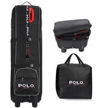 Polo Genuine Golf Air Bag Golf Aviation Package Folding Thickening Outsourcing Plane Bag with Pulley Golf Travel Consignment Bag(China)