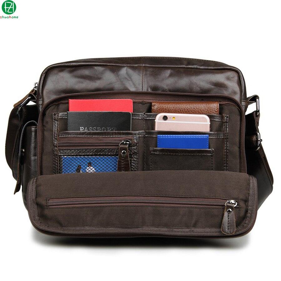 vintage genuine leather men messenger bags design really cowhide men shoulder Laptop bag brown men crossbody travel bags<br><br>Aliexpress