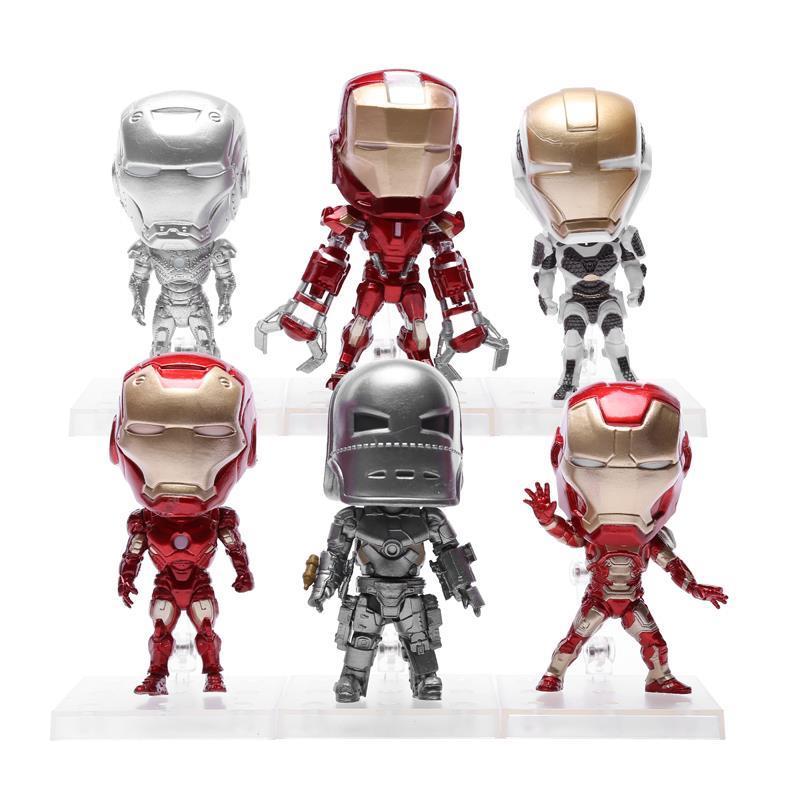 Avengers Iron Man 3 Action Figures MK 1 2 3 42 PVC Figure Toys with Keychain 9cm 6pcs/set HRFG341<br><br>Aliexpress