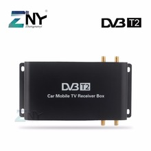 ZNY Car DVB-T2 DVB-T MPEG4 Digital TV Box 4 Seg Support 180-200KM/H Speed Driving Digital Car TV Tuner HD 1080P TV Receiver(Hong Kong)