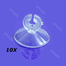 10PCS Aquarium Soft Plastic Suction Sucker Cup Holder Pipe Clip New