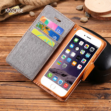 KISSCASE Retro Book Flip PU Leather Wallet Case For iPhone 5s 5 SE Cover Phone Bag Pouch Case For iPhone 5 5s SE 6 6s 7 Plus(China)