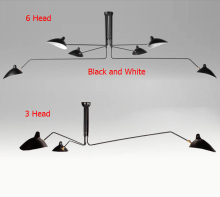 Modern 3 Arm 6 Arm Serge Mouille Pole Ceiling Lights Iron lampshade Decoration Ktchen Ceiling Lamps Fixture110-240V Gifts Home