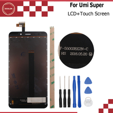 For Umi Super LCD Display and Touch Screen F-550028X2N-C Assembly Repair  5.5 inch Mobile Accessories+Tools and tempered glass